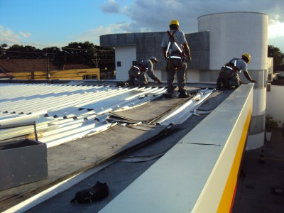 Novo telhado, calhas e forro!